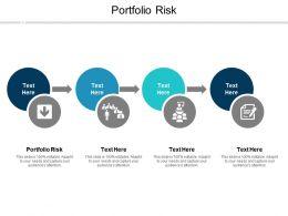 Portfolio Risk Ppt Powerpoint Presentation Ideas Portrait Cpb