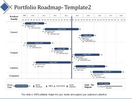 Portfolio Roadmap Management Ppt Summary Infographic Template