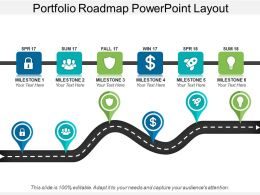 Portfolio Roadmap Powerpoint Layout