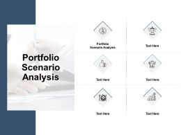 Portfolio Scenario Analysis Ppt Powerpoint Presentation Model Demonstration Cpb