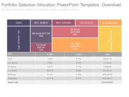 Portfolio Selection Allocation Powerpoint Templates Download