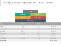 Portfolio Selection Allocation Ppt Slide Themes