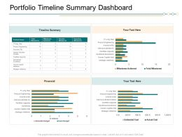 Portfolio Timeline Summary Dashboard Ppt Graphics Pictures