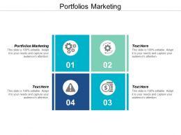 Portfolios Marketing Ppt Powerpoint Presentation Infographics Graphics Template Cpb