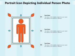 Portrait Icon Depicting Individual Person Photo