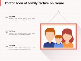 Portrait Icon Of Family Picture On Frame