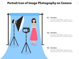 Portrait Icon Of Image Photography On Camera