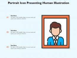 Portrait Icon Presenting Human Illustration