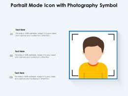 Portrait Mode Icon With Photography Symbol