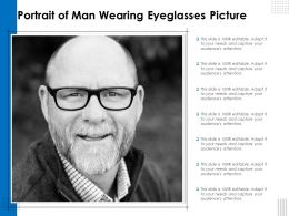 Portrait Of Man Wearing Eyeglasses Picture
