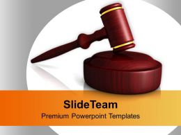 Portrayal Of Judges Wooden Gavel PowerPoint Templates PPT Themes And Graphics 0213