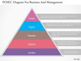 Posec Diagram For Business And Management Flat Powerpoint Design