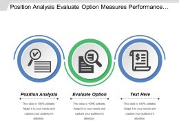 Position Analysis Evaluate Option Measures Performance Allocate Resources