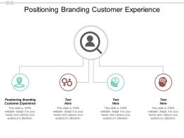 Positioning Branding Customer Experience Ppt Powerpoint Presentation Model Slides Cpb