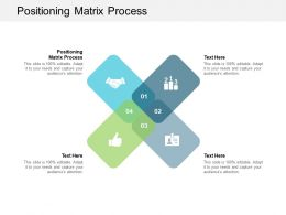 Positioning Matrix Process Ppt Powerpoint Presentation Summary Background Images Cpb