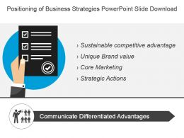 Positioning Of Business Strategies Powerpoint Slide Download