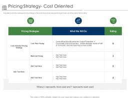 Positioning Retail Brands Pricing Strategy Cost Oriented Ppt Powerpoint Presentation Pictures Background