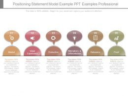 Positioning Statement Model Example Ppt Examples Professional