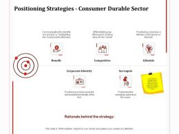 Positioning Strategies Consumer Durable Sector Goals Ppt Powerpoint Slides