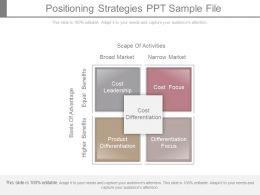 Positioning Strategies Ppt Sample File