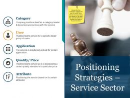 Positioning Strategies Service Sector Powerpoint Slide Background Designs