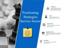 Positioning Strategies Service Sector Powerpoint Slide Designs