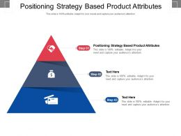 Positioning Strategy Based Product Attributes Ppt Powerpoint Presentation Slides Vector Cpb