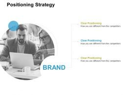 Positioning Strategy Brand Ppt Powerpoint Presentation Designs
