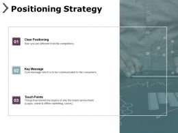 Positioning Strategy Clear Positioning B224 Ppt Powerpoint Presentation Gallery Model