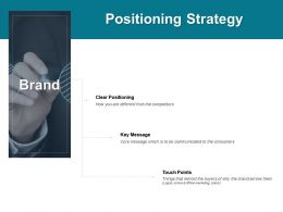 Positioning Strategy Clear Positioning Brand Ppt Powerpoint Presentation Portfolio