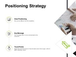 Positioning Strategy Touch Points Key Message Ppt Powerpoint Presentation Icon Picture