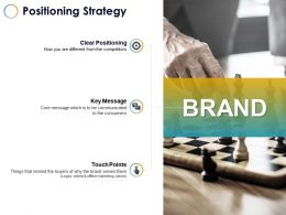 Positioning Strategy Touch Points Ppt Powerpoint Presentation Gallery Outfit