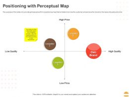 Positioning With Perceptual Map Ppt Powerpoint Presentation Styles Deck