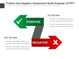 Positive And Negative Assessment Bullet Example Of Ppt