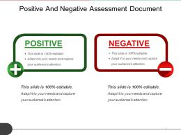Positive And Negative Assessment Document Sample Of Ppt