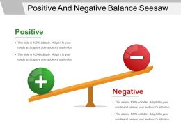 Positive And Negative Balance Seesaw Good Ppt Example