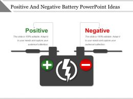 Positive And Negative Battery Powerpoint Ideas