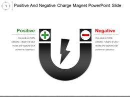 Positive And Negative Charge Magnet Powerpoint Slide