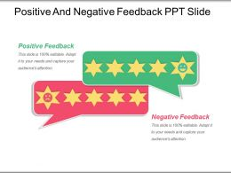Positive And Negative Feedback Ppt Slide