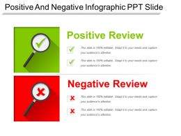 Positive And Negative Infographic Ppt Slide