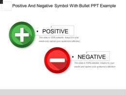 Positive And Negative Symbol With Bullet Ppt Example