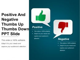 Positive And Negative Thumbs Up Thumbs Down Ppt Slide