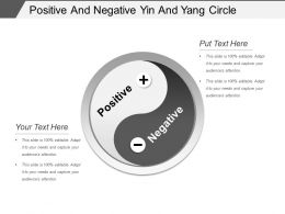 Positive And Negative Yin And Yang Circle Ppt Example File