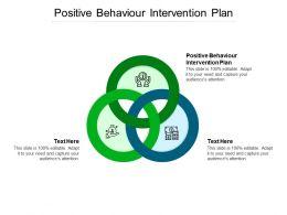 Positive Behavior Intervention Plan Ppt Powerpoint Presentation Infographics Professional Cpb