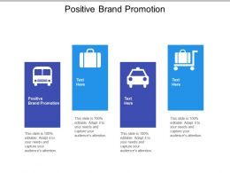 Positive Brand Promotion Ppt Powerpoint Presentation Gallery Graphics Example Cpb