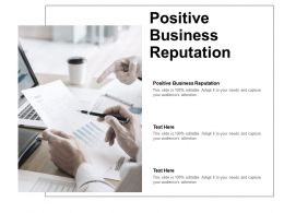 Positive Business Reputation Ppt Powerpoint Presentation File Templates Cpb