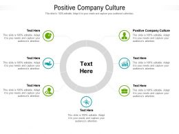 Positive Company Culture Ppt Powerpoint Presentation Professional Graphics Template Cpb
