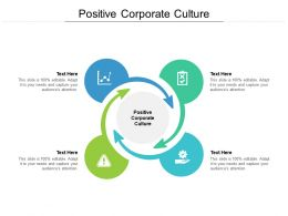 Positive Corporate Culture Ppt Powerpoint Presentation Summary Picture Cpb