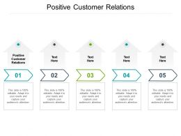 Positive Customer Relations Ppt Powerpoint Presentation Show Summary Cpb