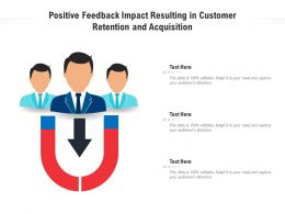 Positive Feedback Impact Resulting In Customer Retention And Acquisition